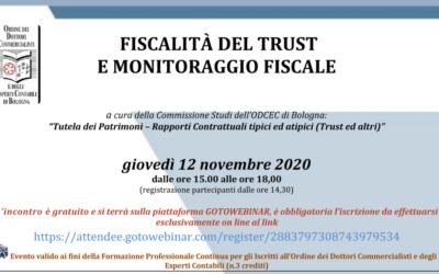 Fiscalità del trust e monitoraggio fiscale